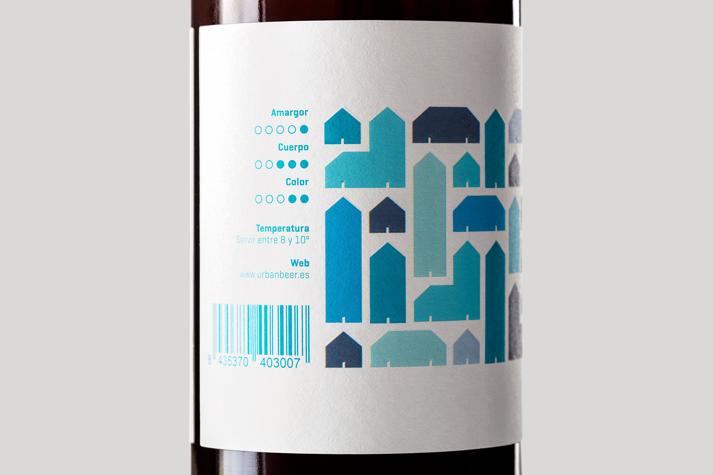 Detalle de una de las etiquetas de Urbanbeer